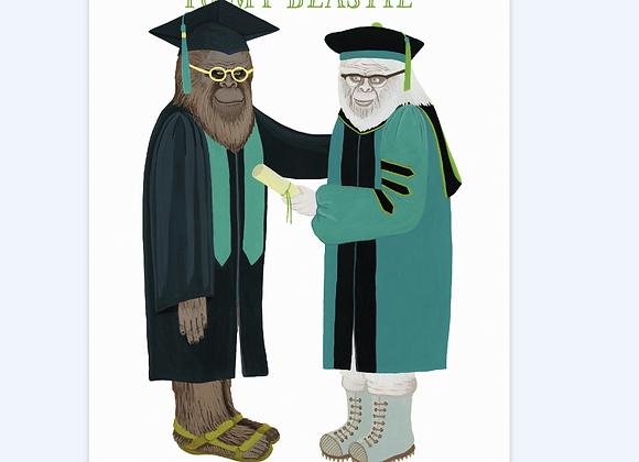 Beastie Graduation Card