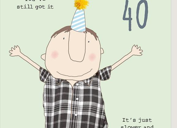 40 Boy Ibuprofen Birthday Card