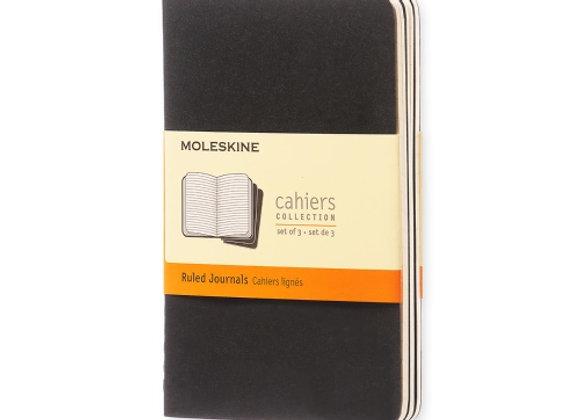 Cahier Pocket Black Set Of 3 Ruled Journals