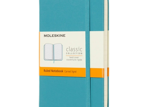 Classic Pocket Reef Blue Soft Cover Ruled Notebook