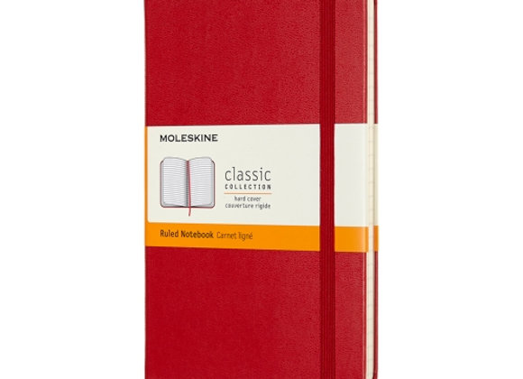 Classic Pocket Red Cover Ruled Notebook