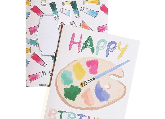 Happy Birthday Paint Palette