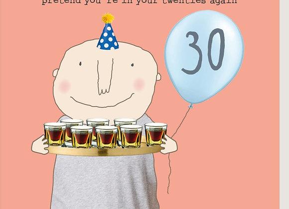 30 Boy Jagerbombs Birthday Card