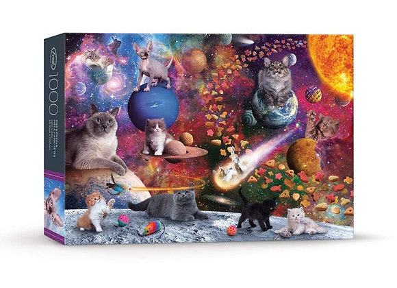 1000 Piece Puzzle Norwood Galaxy Cats