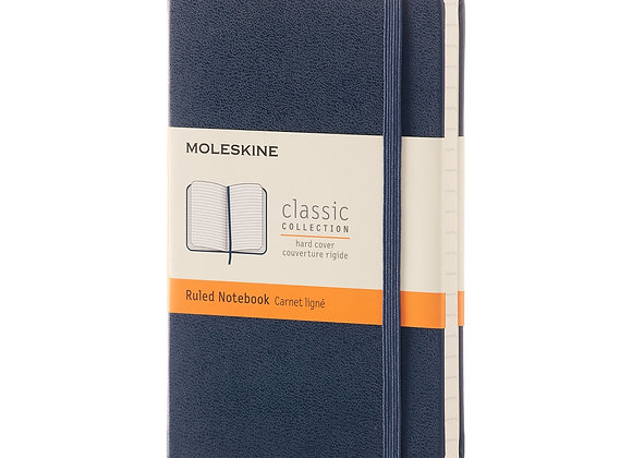 Classic Pocket Blue Cover Ruled Notebook
