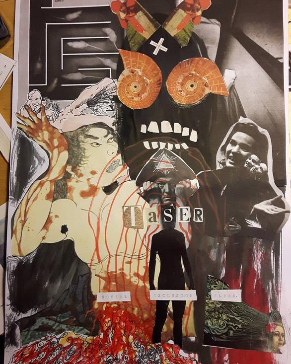 Taser cassette artwork collage