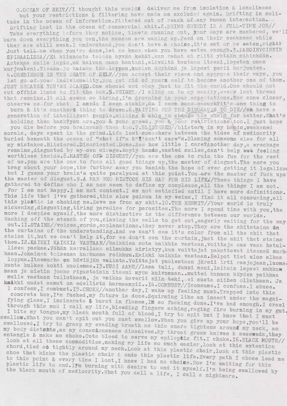 Cut To Fit lyrics- sheet