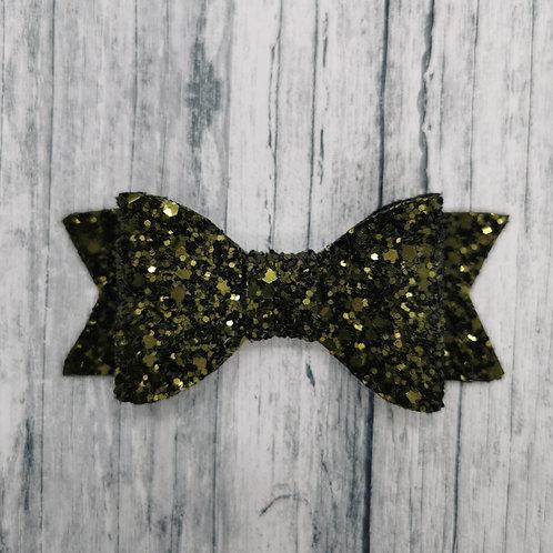 Khaki Glitter Bow