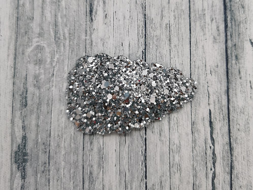 Silver Glitter Snap