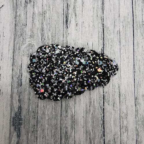 Holographic Black Glitter Snap