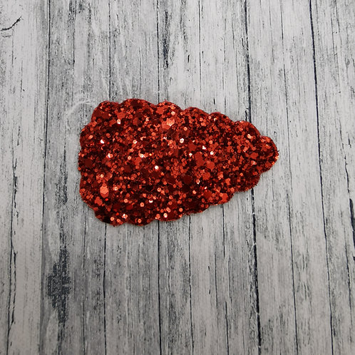 Red Glitter Snap