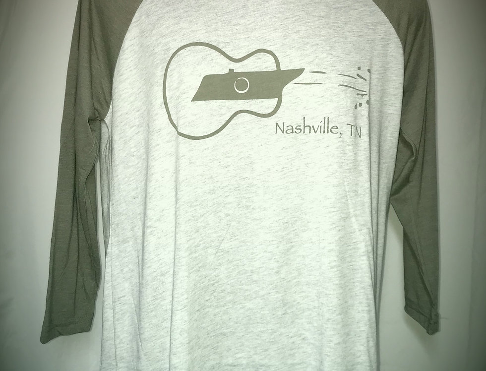 Tennessee Sideways Guitar Unisex Raglan