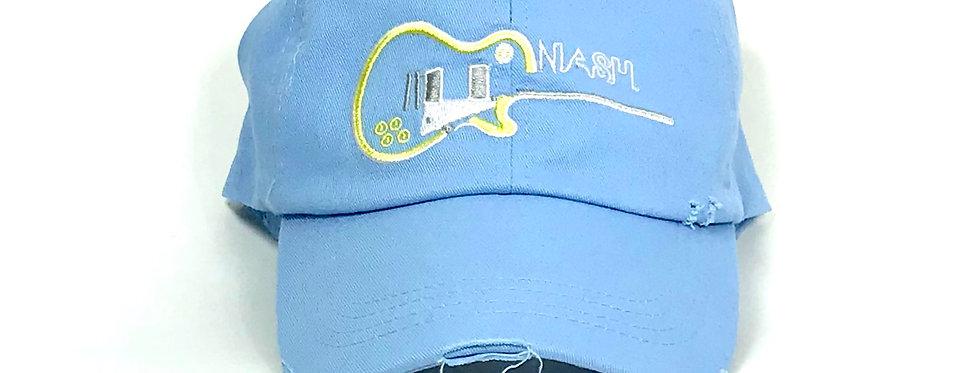 Les Paul Guitar Distressed Hat Light Blue