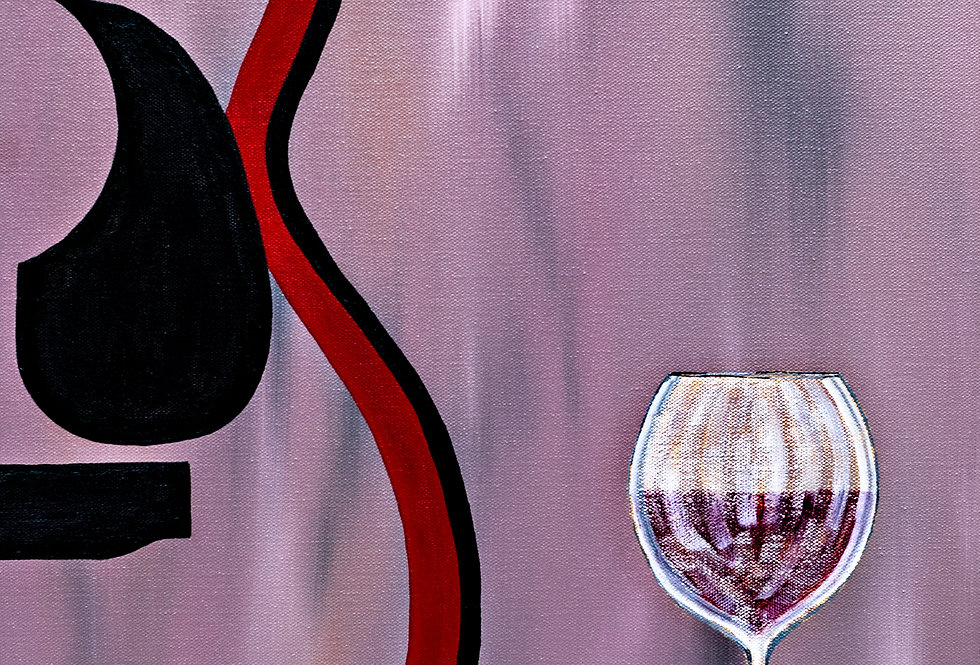 "Red Acoustic W/Wine Original Art 16""X 20"""