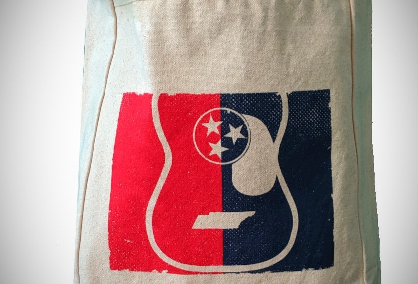 Tennessee Tristar Guitar Canvas Tote