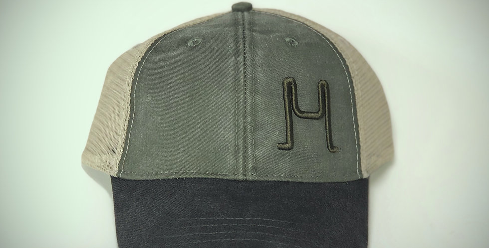 Puff Embroidery Distressed Logo Hat