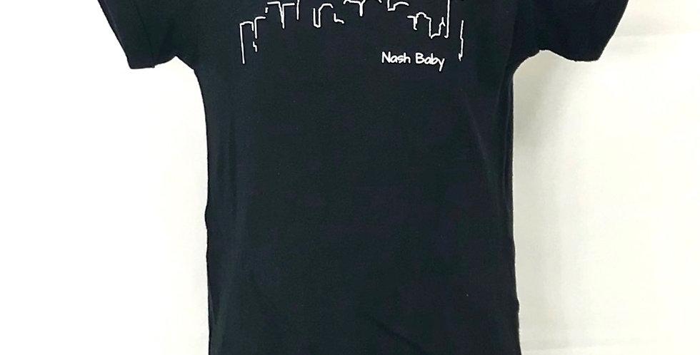 """Nashville Skyline """"Nash Baby"""" Onesie Original Art"""