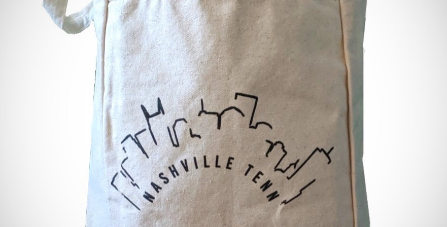 """Nashville Skyline """"Bits and Pieces"""" Canvas Tote"""