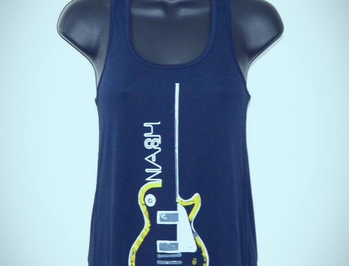 Women's Racer Back Tank Les Paul Guitar