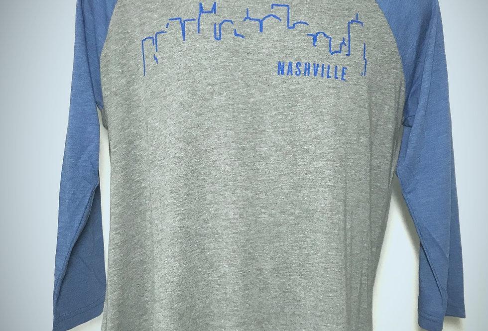 Nashville Skyline Unisex Raglan