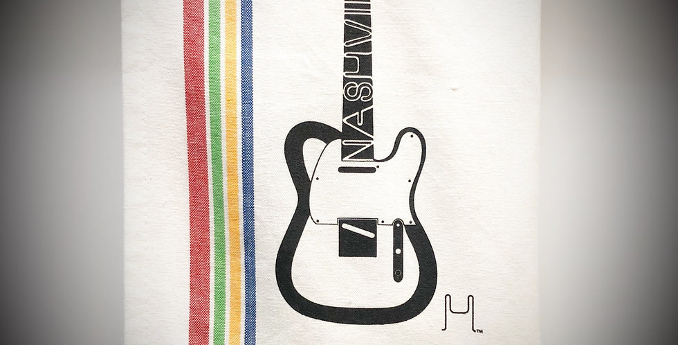 Telecaster Guitar Tea Towel - Original Art