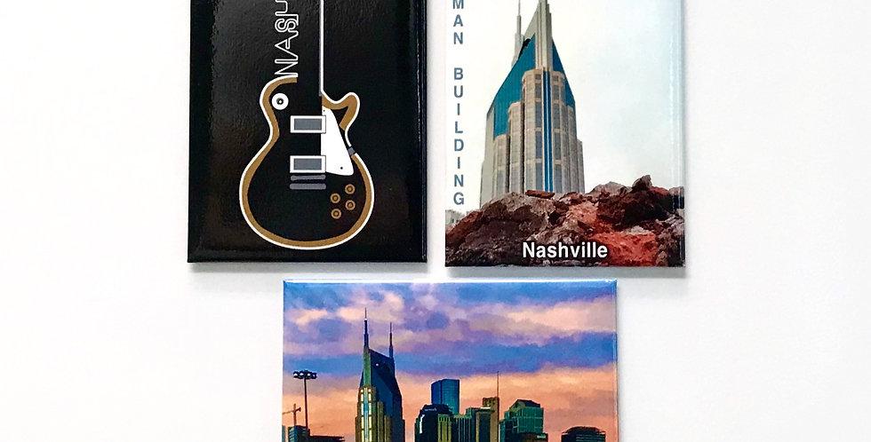Set Of 3  Magnets - Nashville Original Art