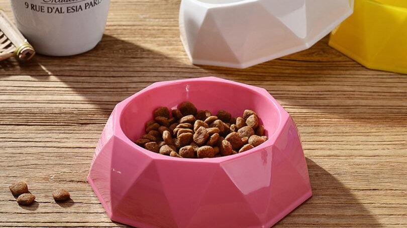 Dog Bowl Colorful Plastic Diamond Style S/M/L Size