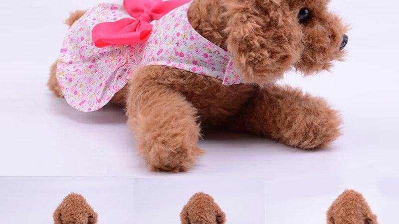 Dog Clothes Skirt Puppy Pet Clothing Summer Beauty Cat Dog Flower Dress XS-XL