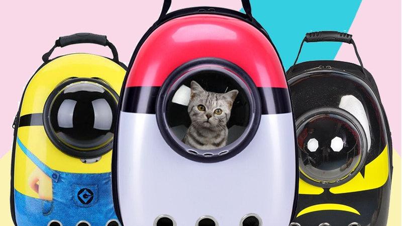 Pet Carrier Kawaii Space Capsule Backpack Small Pet