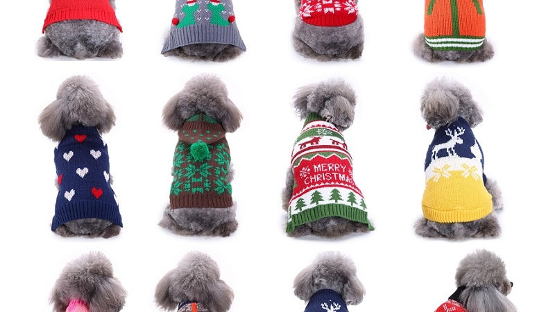 Warm Sweater for Small Dogs Christmas Halloween