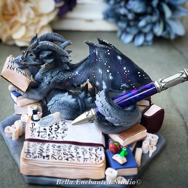 Aethelwyrm sat in his study pouring over