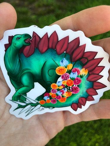 3x3 Stegosaurus Die Cut Clear Sticker