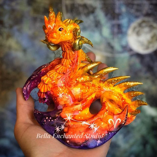watercolor Aries Large Dragonkin