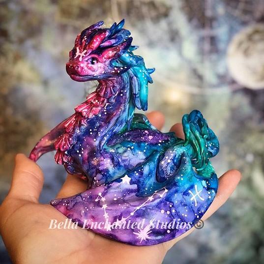 Watercolor Pisces Dragonkin Large