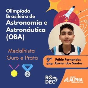 Alunos do Colégio Alpha participantes da ReDEC são destaque em Olimpíada Brasileira (OBA)