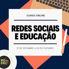 CURSO ONLINE SOBRE REDES SOCIAIS E EDUCAÇÃO