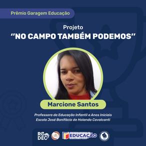 PROFESSORA DE GLÓRIA DO GOITÁ GANHA PRÊMIO DO GARAGEM EDUCAÇÃO