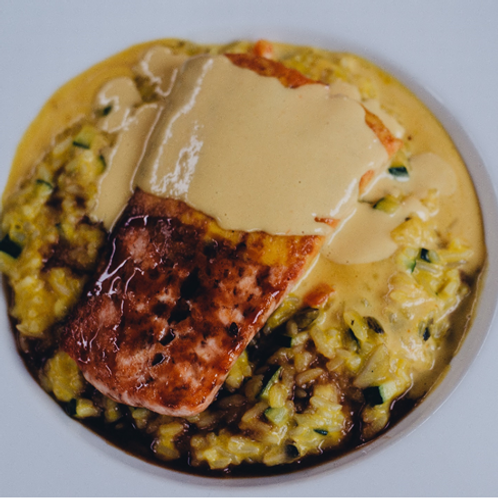 Risotto salmón grille