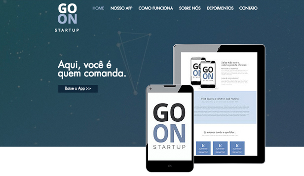 Tecnologia e Aplicativos website templates – Startup