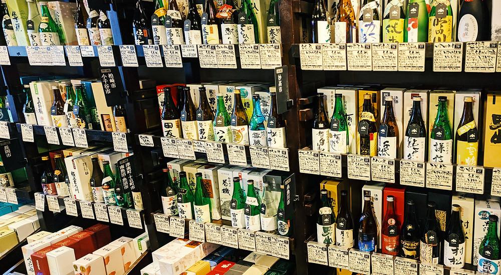 Niigata premium sake bottles