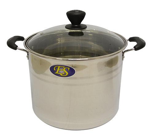 #800093 STAINLESS STEEL COOKING POT-24CM-EX HIGH 不銹鋼湯鍋-加高(玻璃蓋)