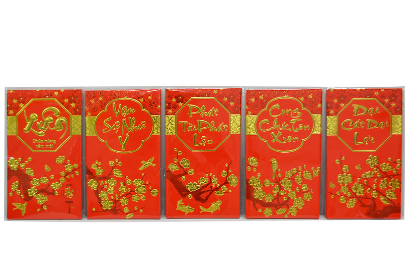 VIETNAMESE RED ENVELOPES-L,ITEM#00808026,越南文紅包(12 PCS/BAG)