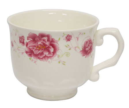 #802546 TEA CUP WITH HANDLE-RED FLOWER 紅花茶杯含手把(8 PCS)
