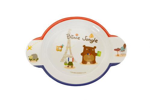 "#807754 MLM BONNE JUNGLE PLATE-7.1"" 兒童雙耳點心盤-熊"