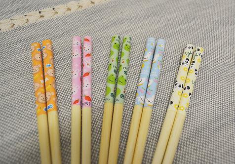 #801847 BAMBOO CHOPSTICKS FOR KIDS-5 PAIRS 小孩專用竹筷