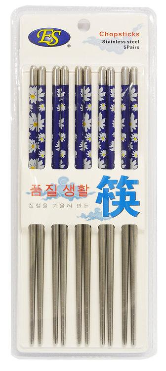 #801994 STAINLESS STEEL CHOPSTICKS-5 PAIRS  不鏽鋼筷