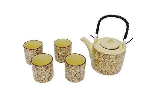 #802239 TEA SET 陶瓷 茶壺茶杯套組