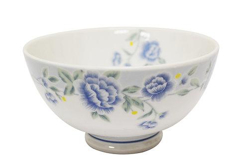 """#802306 RICE BOWL-BLUE PEONY-8"""" 藍牡丹飯碗"""