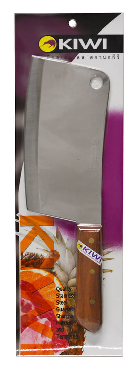 "#801415P KIWI S/S CHEF'S CLEAVER #850(8"") W/PACKAGE 泰國不銹鋼主廚刀"