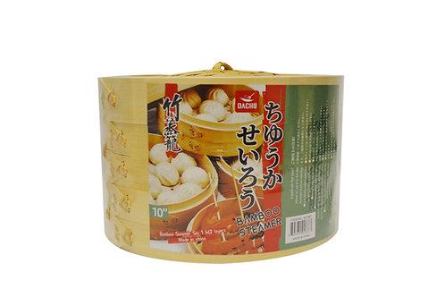 """#801887 DACHU BAMBOO STEAMER 3 LAYER-10"""" 竹蒸籠"""